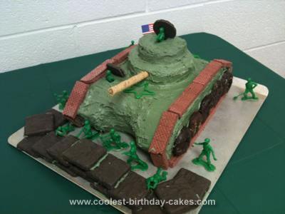 Homemade Army Tank Cake