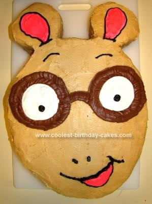 Homemade Arthur Birthday Cake