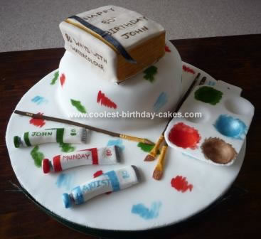 Tremendous Coolest Homemade Artist Palette Cakes Funny Birthday Cards Online Fluifree Goldxyz