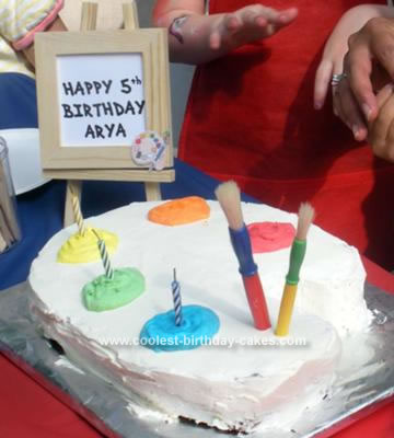 Terrific Coolest Homemade Artist Palette Cakes Personalised Birthday Cards Paralily Jamesorg