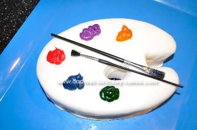 Homemade Artist Palette Birthday Cake