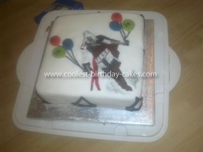 Homemade Assassin's Creed Birthday Cake