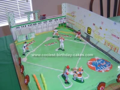 Homemade Astros Birthday Cake
