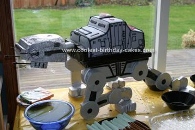 Homemade AT-AT Star Wars Cake