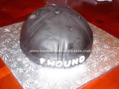 Homemade Atlanta Braves Baseball Hat Cake ... 1894778b0d73