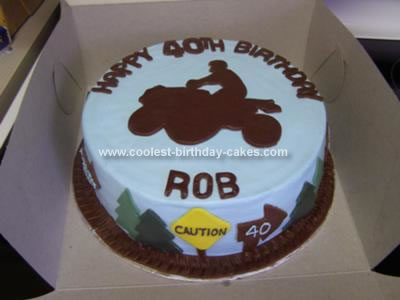 Homemade ATV Birthday Cake