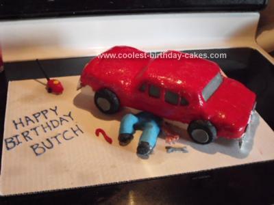 Homemade Auto Mechanic Birthday Cake