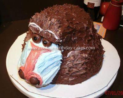 Coolest Baboon Birthday Cake