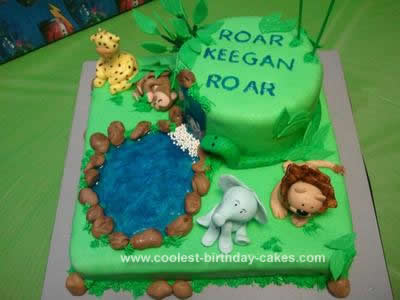Homemade Baby Animal Cake