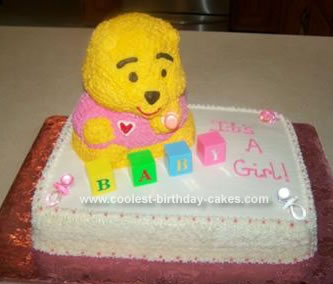 Homemade Baby Bear Cake