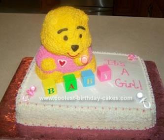 Homemade Baby Bear Cake