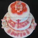 Homemade Baby Bears Christening Cake