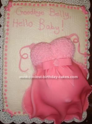 Homemade Baby Belly Cake