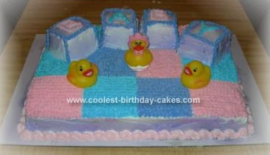 Homemade Baby Block Cake