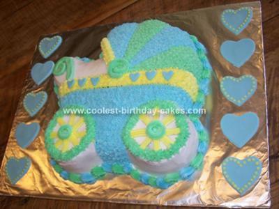 Homemade Baby Buggy Shower Cake