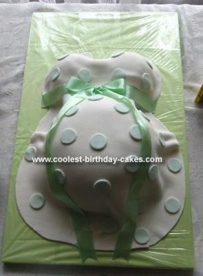 Homemade Baby Bump Cake