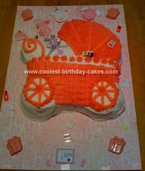 Homemade Baby Carriage Cake