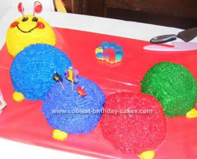 Homemade  Baby Einstein 1st Birthday Cake