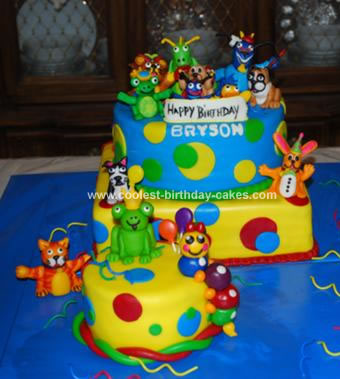 Homemade Baby Einstein Birthday Cake