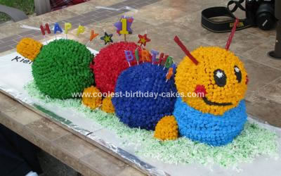 Outstanding Coolest Baby Einstein Caterpillar Birthday Cake Personalised Birthday Cards Veneteletsinfo