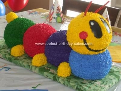 Phenomenal Awesome Homemade Baby Einstein Caterpillar Cake Personalised Birthday Cards Veneteletsinfo