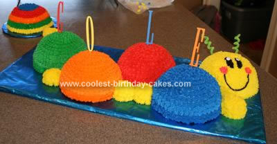 Homemade Baby Einstein Caterpillar Cake