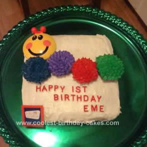 Homemade Baby Einstein Caterpillar Cake