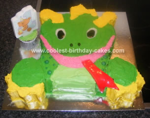 Homemade Baby Einstein Dragon Birthday Cake
