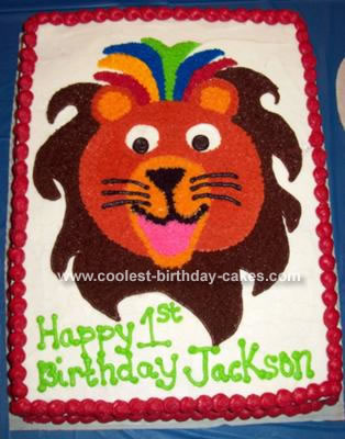 Baby Einstein Lion Cake
