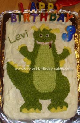 Homemade Baby Einstein Lizard Cake