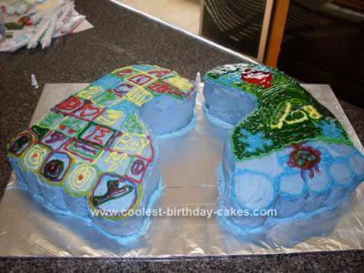Homemade Baby Footprints Baby Shower Cake