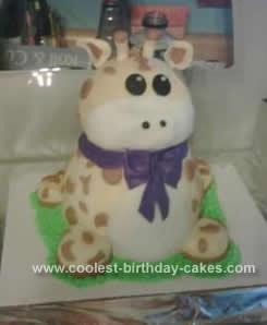 Homemade Baby Giraffe Cake