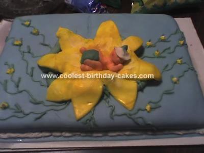 Baby in Flower Cake