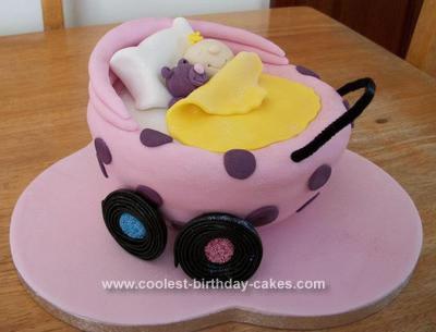 Homemade Baby in Pram Cake