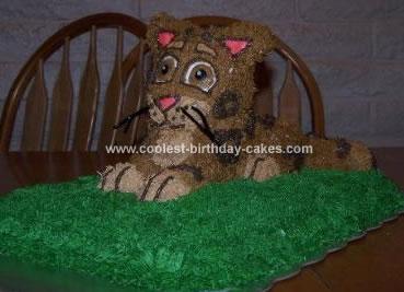 Homemade Baby Jaguar From Diego Birthday Cake