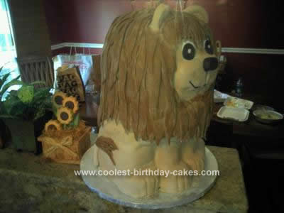 Homemade Baby Lion Cake