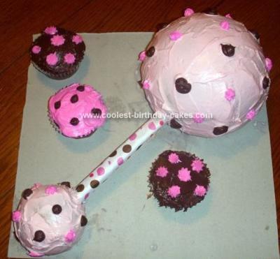 Homemade Baby Rattle Cake