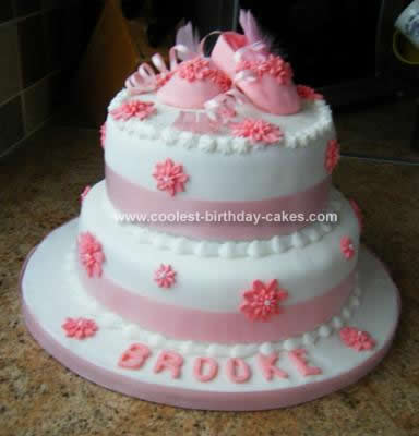 Homemade Baby Shoe Cake