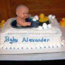 Homemade Baby Shower Bathtub Cake