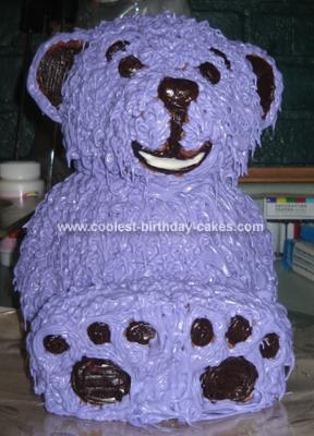 Homemade Baby Shower Bear Cake