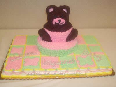 Homemade Baby Shower Bear Cake