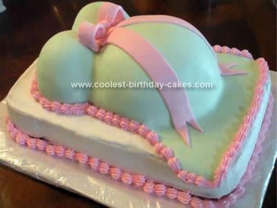 Homemade Baby Shower Belly Cake