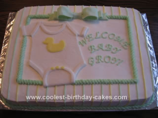 Homemade Baby Shower Cake