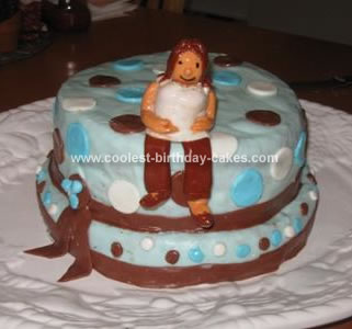 Homemade Baby Shower 'Pregnant Lady' cake