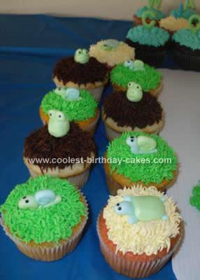 Homemade Baby Shower Frog Cake