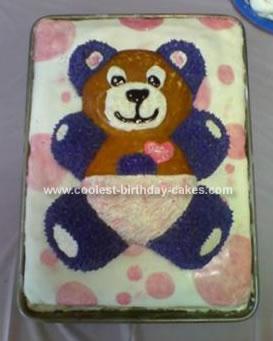 Homemade Baby Shower Teddy Bear Cake