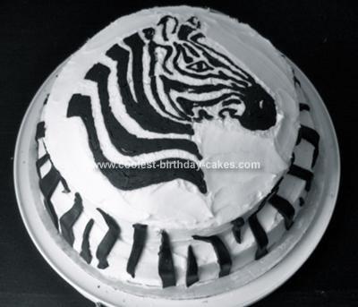 Homemade Baby Zebra Cake