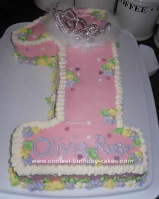 Homemade Baby's 1st Birthday Princess Cake