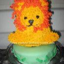 Homemade Baby's Lion Cake
