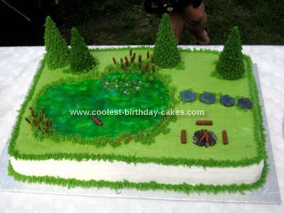Homemade Backyard Pond Cake